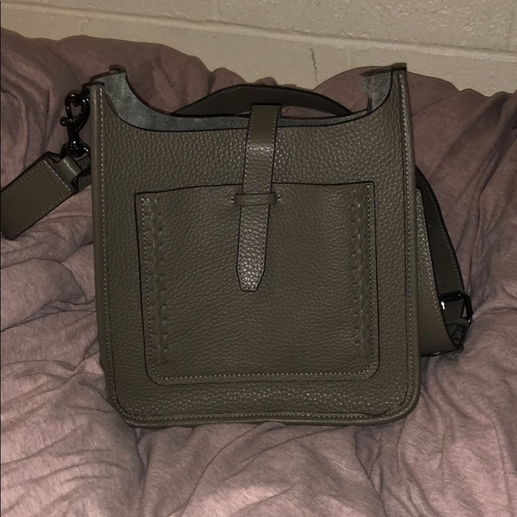 c4f319b3e4 Small Unlined Feed Bag with Whipstitch (Graphite).  M 5a8df9d050687c996464eba1. Other Bags you may like. Rebecca Minkoff MAC  Crossbody
